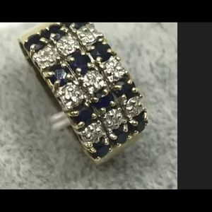 10k Blue sapphire Ring